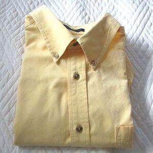 John Ashford - Yellow Oxford Shirt Button Collar